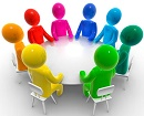 clip art image of meeting
